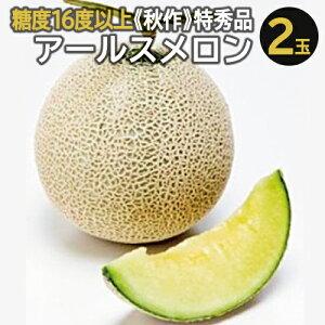 【ふるさと納税】C-10 アールスメロン 最高級 特秀品 2玉【秋作】