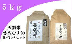 【ふるさと納税】 米 新米 島根 コシヒカリ きぬむすめ A055 大田市産お米食べ比べセット(令和元年産)(合計5kg)