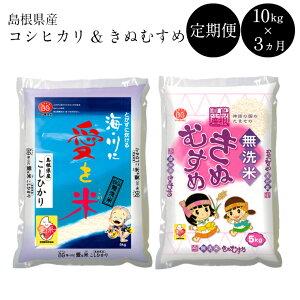 【ふるさと納税】BG無洗米[定期便]きぬコシ 10kg/3ヵ月 米 無洗米 定期 島根県