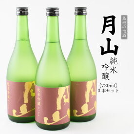 【ふるさと納税】月山 純米吟醸 720ml×3本セット 島根の地酒 日本酒