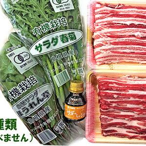 【ふるさと納税】まる姫ポーク バラしゃぶしゃぶ 1kg、ゆずしょうゆ、野菜付 【牛肉/しゃぶしゃぶ・お肉・豚肉・バラ】
