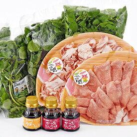 【ふるさと納税】江津クレソン鍋セット 【鍋セット・お肉・豚肉・野菜・鍋・お鍋】