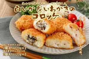 【ふるさと納税】白いか&いわがきのコロッケ (オリジナルベシャメルソース+ほくほくポテト)