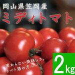 【ふるさと納税】笠岡産ミディトマト2kg(数量限定)