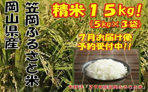 【R29-07】29年産「笠岡ふるさと米」15kg(7月発送)