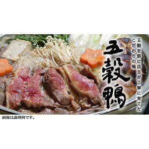 【ふるさと納税】五穀鴨肉 ブロック900g〜1,000g 【鴨肉・お肉】