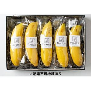 【ふるさと納税】皮ごと食べられる!Draine 金のバナーナ 5本(1本約200g 無農薬国産バナナ) 【果物詰合せ・フルーツ・バナナ】