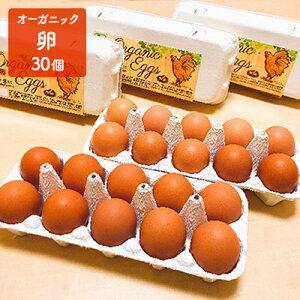 【ふるさと納税】オーガニック卵 30個 【卵・鶏卵・有機】