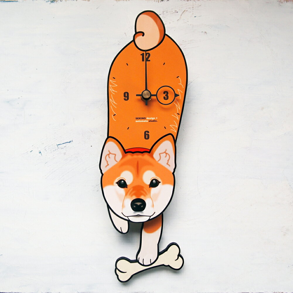 【ふるさと納税】D-002 柴犬-犬の振り子時計