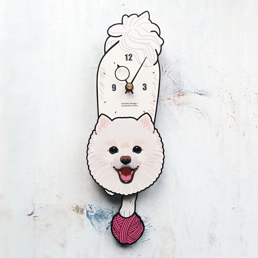 【ふるさと納税】D-100 ポメラニアン-犬の振り子時計
