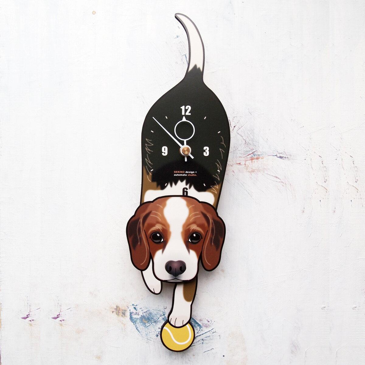 【ふるさと納税】D-149 ビーグル-犬の振り子時計