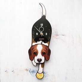 【ふるさと納税】<D-149 ビーグル-犬の振り子時計>