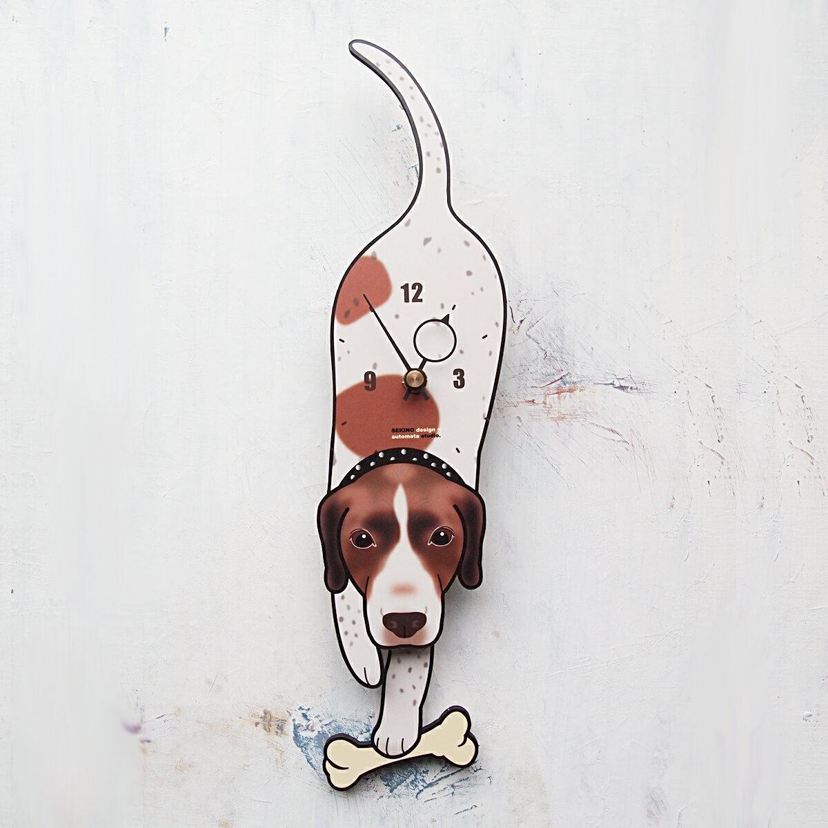 【ふるさと納税】D-48 イングリッシュポインター-犬の振り子時計
