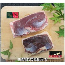 【ふるさと納税】『京鴨』極 ふるさと食べ比べセット(2パックで約660g)【配達不可:離島】 【鴨肉】