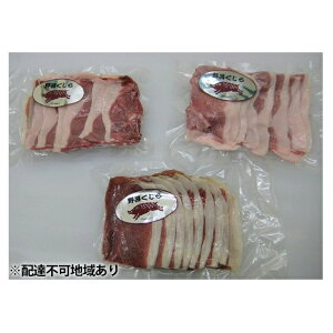 【ふるさと納税】「野呂くじら」いのしし肉 3パックセット(計850g)【配達不可:離島】 【猪肉】