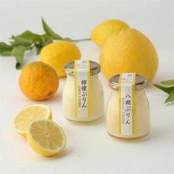 【ふるさと納税】「瀬戸内ブランド」認定品♪万汐(まんちょう)さんの八朔・檸檬ぷりん詰合せ