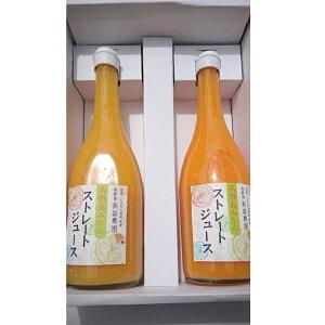 【ふるさと納税】長畠農園ストレートジュース 2本詰め合わせ 720ml×2本