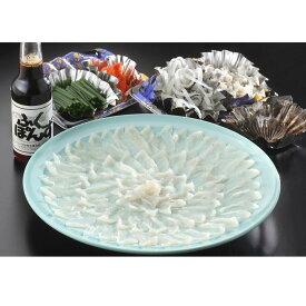 01C-007【ふるさと納税】とらふぐの刺身(33cmプラ皿)