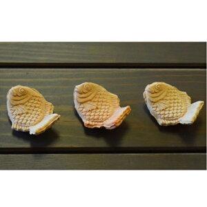 【ふるさと納税】萩焼 たい焼きの箸置き 3客 【工芸品・民芸品】