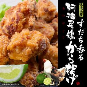 【ふるさと納税】Bb019a すだち香る 阿波尾鶏から揚げ 1kg(500グラム× 2)