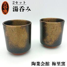 【ふるさと納税】大谷焼 窯元 梅里窯 湯呑み ペア セット | 徳島県 伝統工芸品 陶器 おしゃれ