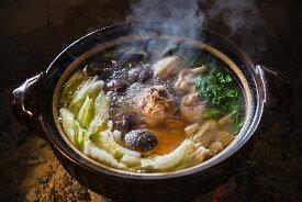 【ふるさと納税】阿波尾鶏鍋セット(腿肉+胸肉+スープ)