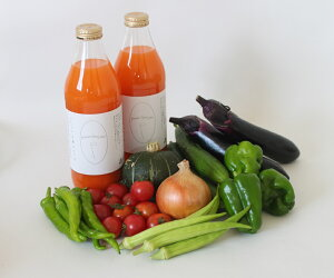 【ふるさと納税】030-021 若葉農園の無農薬自然栽培野菜セットと自然栽培野菜人参ジュース1L2本