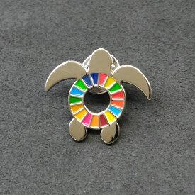 【ふるさと納税】美波町 SDGs カメ ピンバッジ