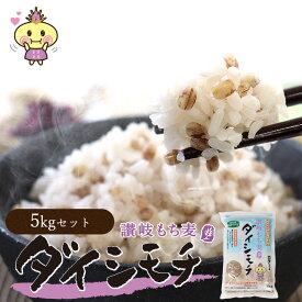 【ふるさと納税】善通寺市産 讃岐もち麦ダイシモチ 5kg(1kgx5袋)