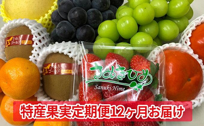 【ふるさと納税】特産果実定期便(12ヶ月)【果物類/フルーツ/詰合せ/頒布会】