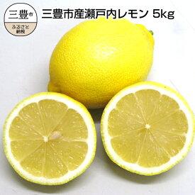 【ふるさと納税】三豊市産瀬戸内レモン約5kg(30〜40個前後)