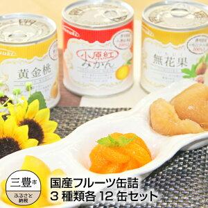 【ふるさと納税】国産フルーツ缶詰 3種類各12缶セット