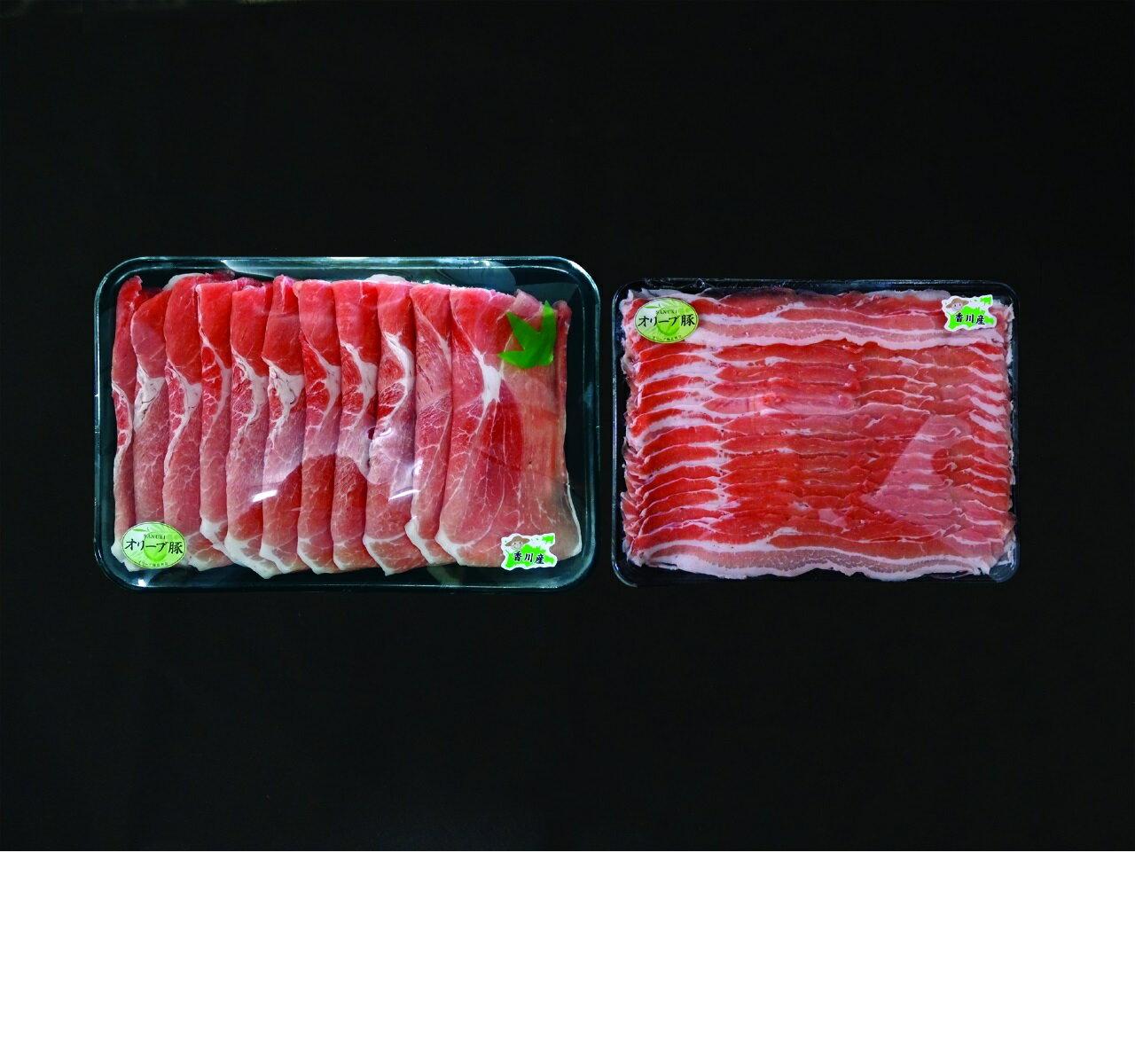 【ふるさと納税】【香川のブランド豚!!オリーブを食べた豚だからヘルシー】オリーブ豚 【モモスライス2kg・バラスライス1kg】