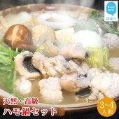 【ふるさと納税】せとぴち!オリジナル天然ハモ鍋セット(3〜4人前)