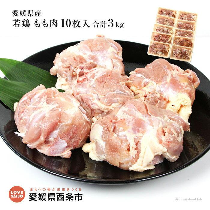 【ふるさと納税】<愛媛県産若鶏 もも肉 10枚入 合計3kg> ※1か月以内に順次出荷します。 愛媛県 西条市 【冷凍】