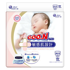 【ふるさと納税】グーンプラス敏感肌設計 新生児用88枚×4パック