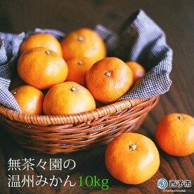 【ふるさと納税】<無茶々園の温州みかん10kg>※2020年11月中旬から12月末迄に順次出荷します。 果物 ミカン 蜜柑 柑橘 フルーツ 特産品 愛媛県 西予市 【常温】