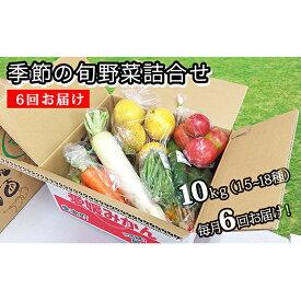【ふるさと納税】6回お届け 季節の旬野菜詰合せ 【定期便・野菜・セット・詰合せ・頒布会】