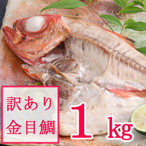 【ふるさと納税】【訳あり】金目鯛の干物(約1kg)<NK031>