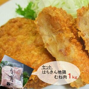 【ふるさと納税】はちきん地鶏むね肉と鰹コロッケセット 鶏肉 惣菜 加工品 送料無料 <AG022>