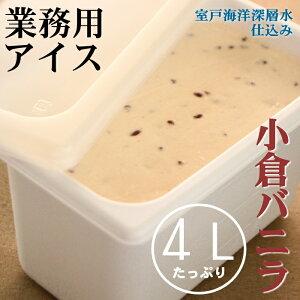 【ふるさと納税】小倉バニラ4L 業務用アイス<MT031>