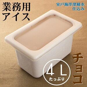【ふるさと納税】チョコ4L 業務用アイス<MT032>