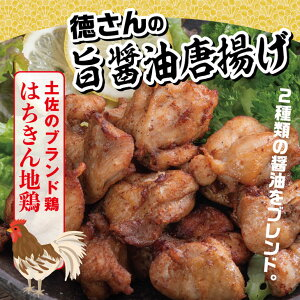 【ふるさと納税】はちきん地鶏徳さんの旨醤油唐揚げ 鶏肉 惣菜 冷凍 送料無料 <YJ052>