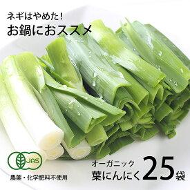 【ふるさと納税】高知県産 冷凍オーガニック葉ニンニク150g×25袋(無農薬、無化学肥料、有機JAS認定)
