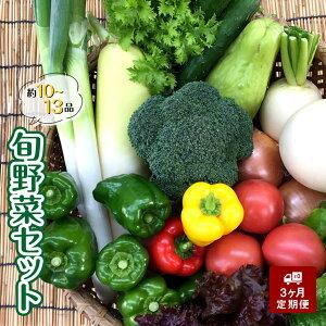 【ふるさと納税】【3ヶ月定期便】旬な野菜の詰め合わせ 無農薬 定期便 新鮮野菜 朝どれ