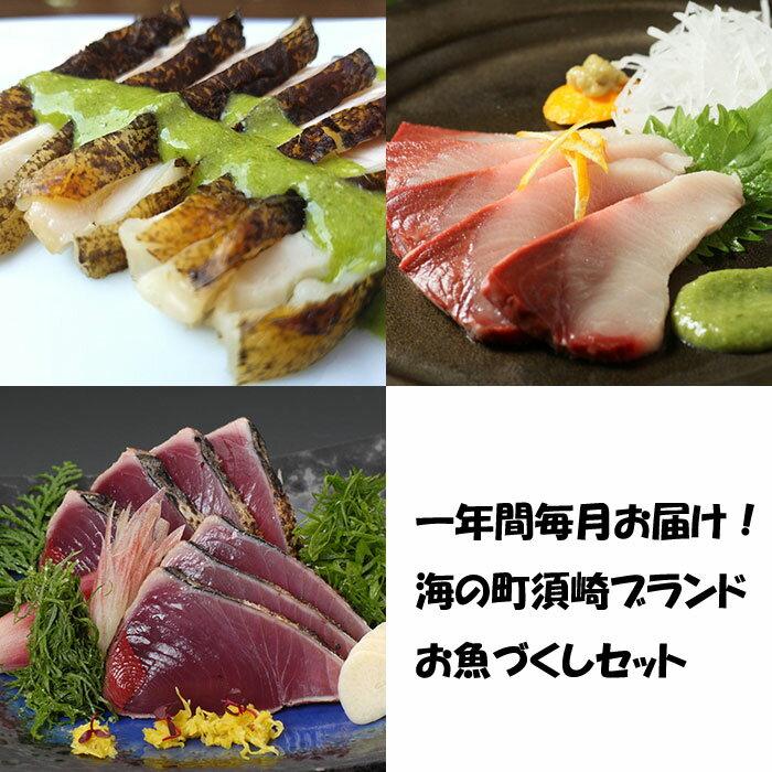 【ふるさと納税】一年間毎月お届け!海の町須崎ブランドお魚づくしセット