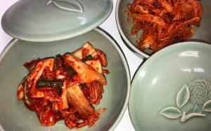 【ふるさと納税】韓家の美人キムチ(白菜)・さきいかキムチ 各2袋セット
