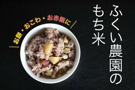 【ふるさと納税】【新米】ふくい農園のおいしいお米(もち米8kg)