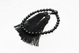 【ふるさと納税】【BB-4】黒珊瑚の数珠(選べるケース付)
