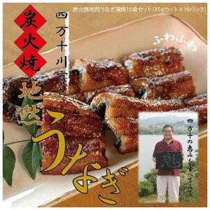 【ふるさと納税】21-768.川漁師の店「四万十屋」 炭火焼地然うなぎ蒲焼16食セット